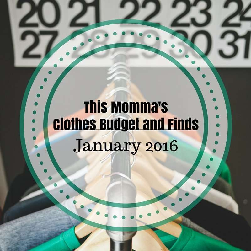 This Momma's Clothes Budget and Finds: January 2016