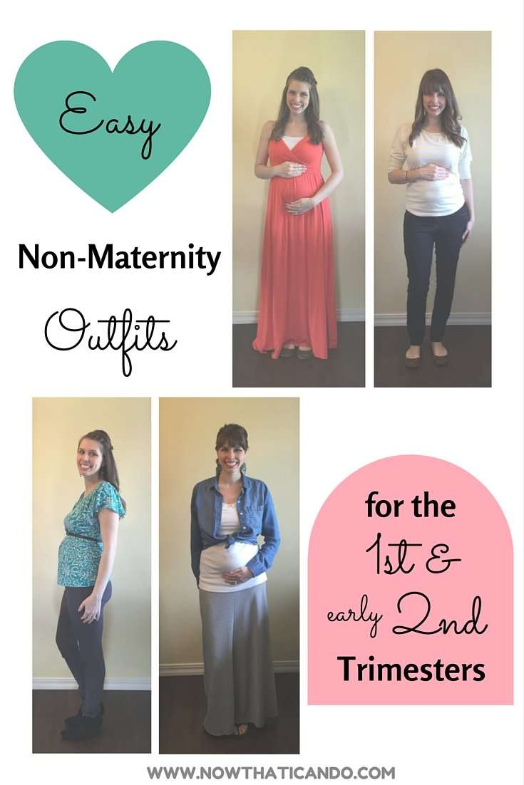 {Maternity} Easy Non-Maternity Outfits for the 1st & (early) 2nd Trimesters