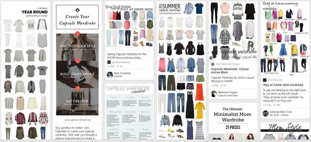 Click here to view capsule wardrobe examples on pinterest