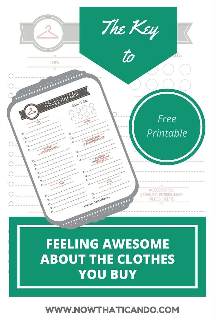 How to Create a Smart Wardrobe Shopping List (+ free printable)