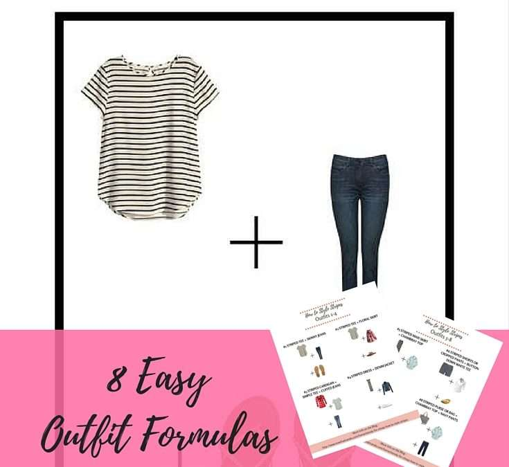 How to Style Stripes (+ free printable with 8 sample outfits)