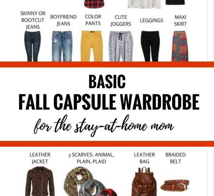 Basic Fall Capsule Wardrobe (72+ Outfits) for the Stay-at-Home Mom – FREE download