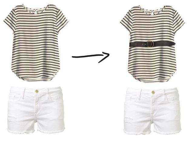 Shorts & Tee + Belt