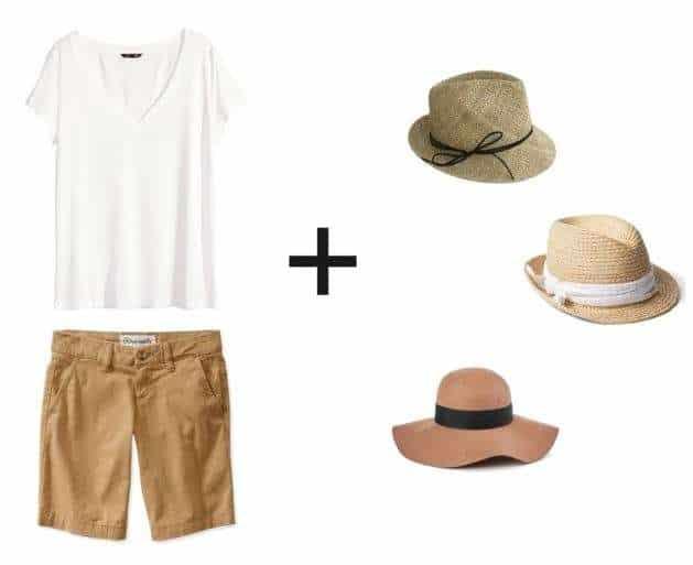 Shorts & Tee + Hat