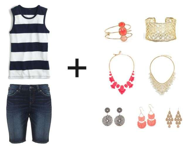 Shorts & Tee + Statement Jewelry