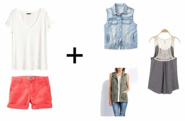 Shorts & Tee + Vest
