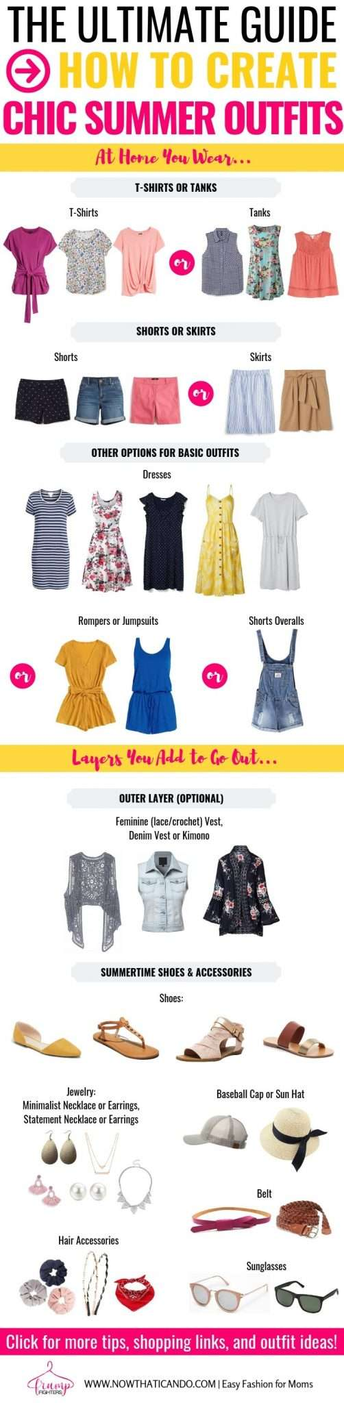 If you're looking for the best casual summer outfit ideas, you have to check out this blog! This mama has tons of outfit formulas that make it easy and simple to create a classy, yet trendy outfit for summer time! Perfect for any hot weather climate too! #summer #fashion #moms #tips #outfits #summerwardrobe
