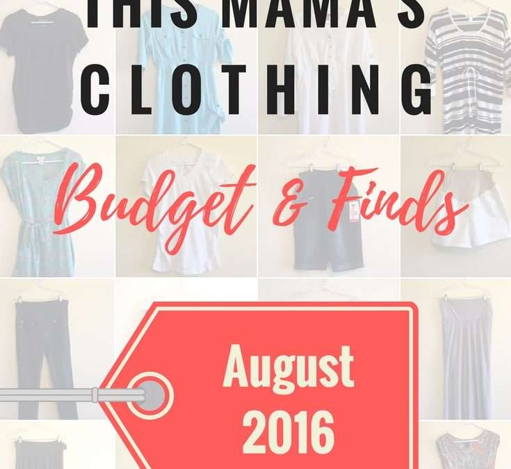 This Mama's Clothing Budget & Finds: August 2016 + Mom Life Link Up!