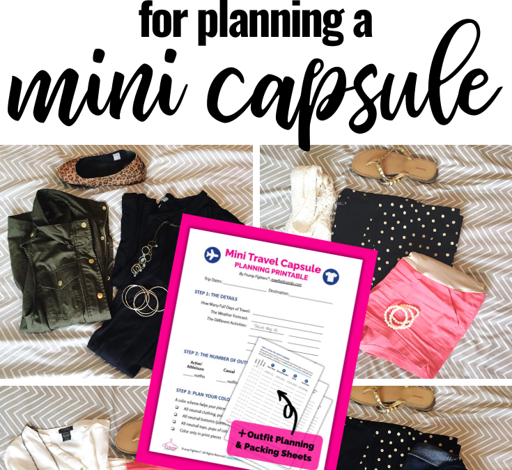 How to Plan a Mini Wardrobe for Travel in 5 Steps (free 2-page PDF worksheet)