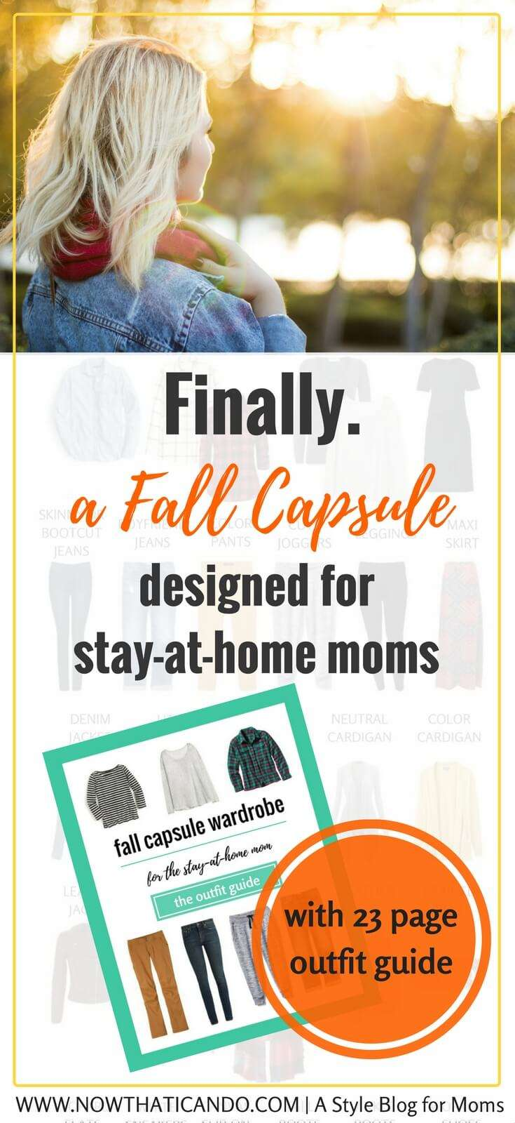 Are you a stay-at-home mom needing ideas for a flexibly stylish but comfortable fall wardrobe? Check out this simple ensemble that creates 72+ outfits to keep you looking fabulous all fall! Click through for graphics and printables.