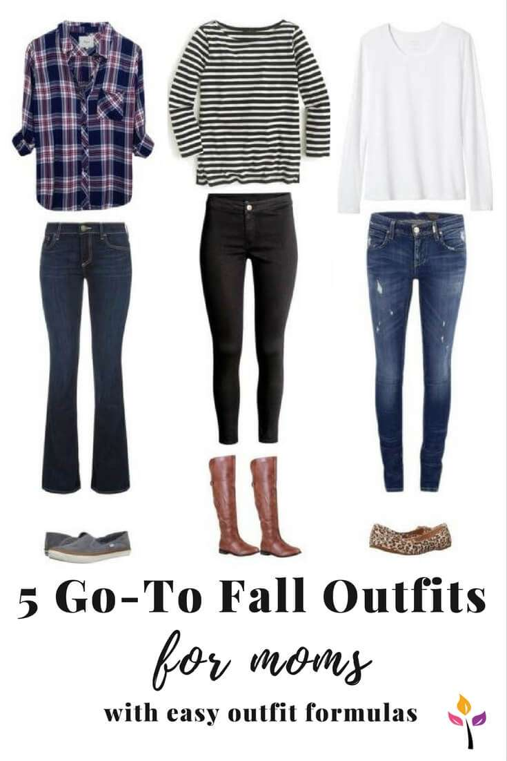 5 Go To Fall Outfits For Moms With Easy Outfit Formulas Easy Fashion For Moms