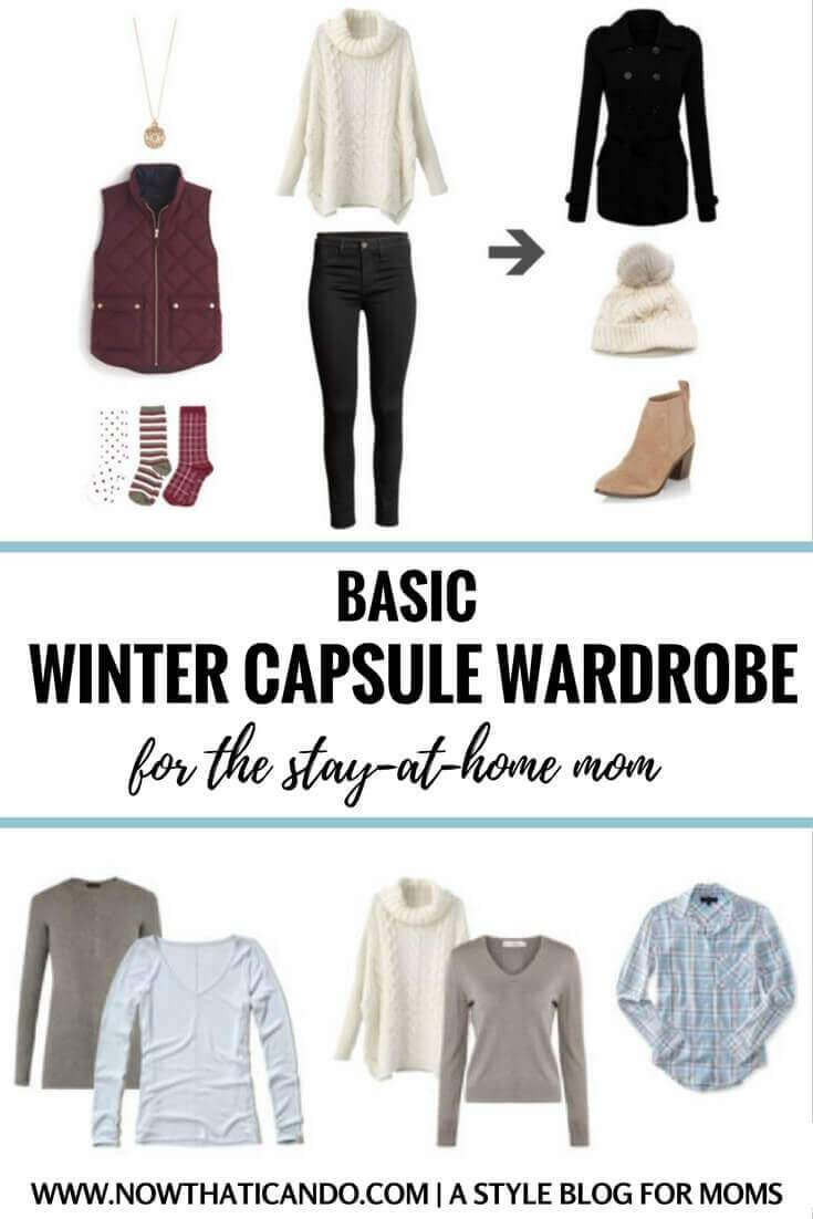 Basic Winter Capsule Wardrobe Plan (130+ Outfits) for Stay-at-Home Moms – FREE Download