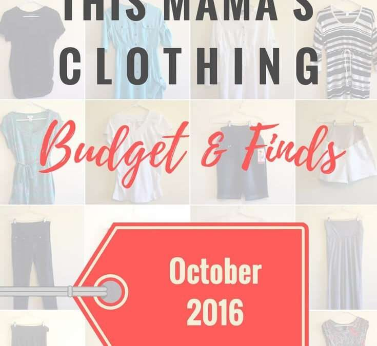 This Mama's Clothing Budget & Finds: October 2016