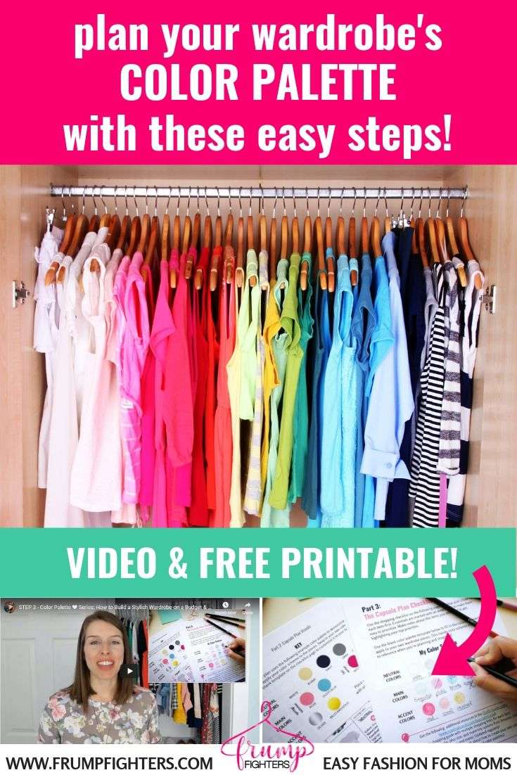 One key to having an easy capsule wardrobe is a color scheme! But doesn't that sound like just one more overwhleming task? Finding your personal color palette for your clothing can be easy and totally satisfying! Broken down in a few easy steps, this blog post walks you through this quick process to help you create the ultimate closet color scheme, personalized to YOU! #colorseason #color #organiation #capsule #wardrobe #outifts