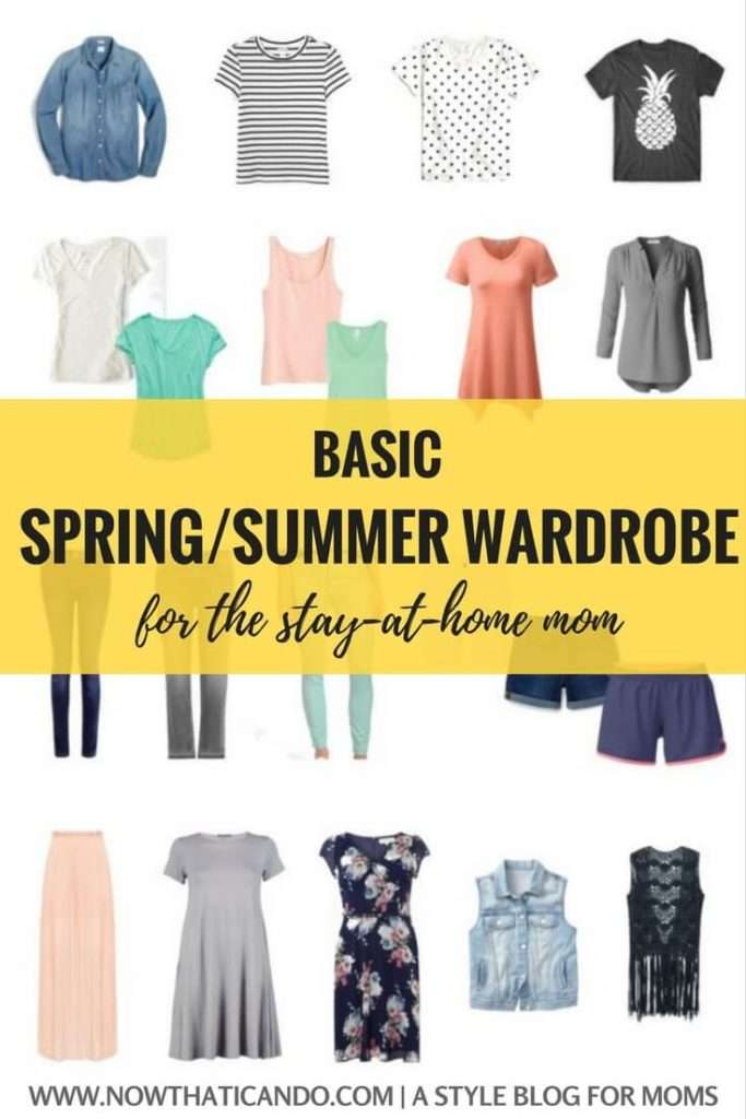 Self Care Ideas For Moms: Basic Spring/Summer Capsule Wardrobe (86+ Outfits) For