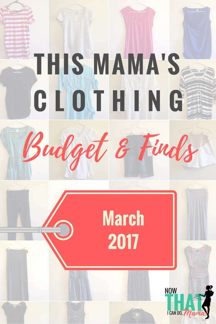 This Mama's Clothing Budget & Finds:  March 2017 (15 items)
