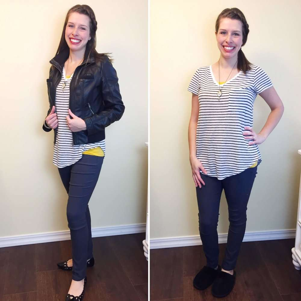 Use the Layout app to show two or more outfits side by side. Here I'm using it to show the