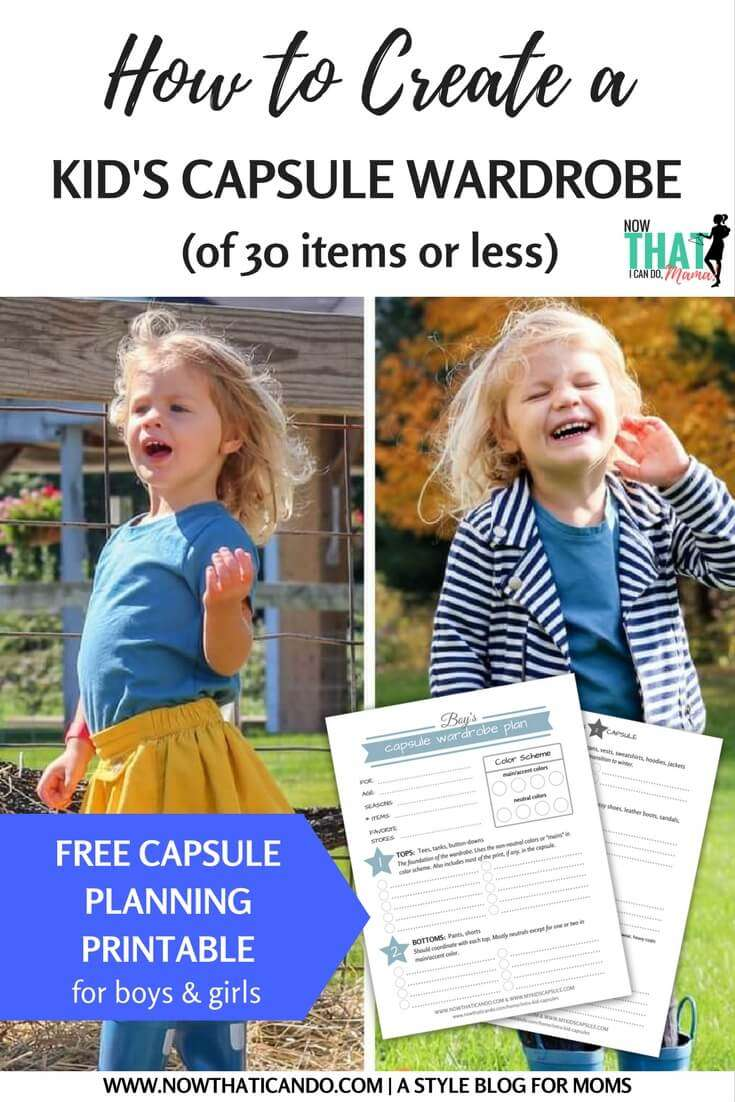 How to Create a Child's Capsule Wardrobe (free printable planner)