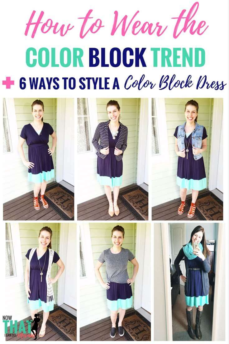 How to Wear the Color Block Trend (6 Ways to Style a Color Block Dress)