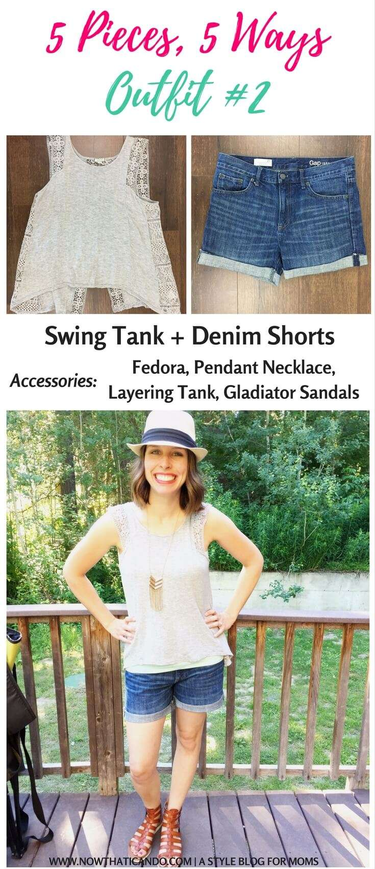 Have you ever tried a mini #capsule for a #vacation or trip? I love the idea this mama had where she used 5 clothing pieces to create 5 #outfits for her 5 day #getaway. Come see what she did and then tell me.. would you try this? #tips #fashion #mom #ideas #style #tricks #momlife #easy #clothes