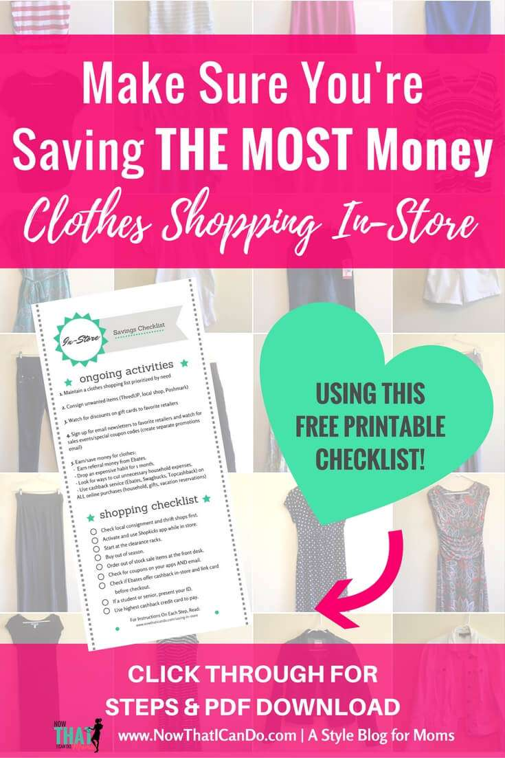 Do you struggle saving money while you're shopping at the mall? Shopping with a clothing budget doesn't have to be hard! Here are some great tips on ways to maximize your savings on clothes while shopping in store!