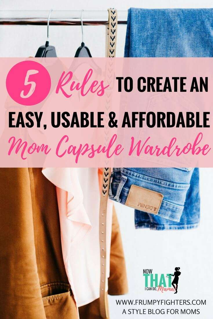 Apply These 5 Rules When Creating a Mommy Capsule Wardrobe