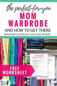 It's one thing to know you want to love your #wardrobe. Don't we all want to love what we wear?? But how do you get to that magical, outfit-perfect place? I love this blog post that lays out easy steps on how to achieve a wardrobe I love! #mom #momlife #fashion #outfits #tips # ideas #easy #clothes #style #capsulewardrobe