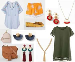 Fashion Forecast for Spring & Summer 2019 includes tassels on clothing and accessories.  It's easy to include this trend in your closet for a chic, casual or dressy look. #style #trends #wardrobe #2019