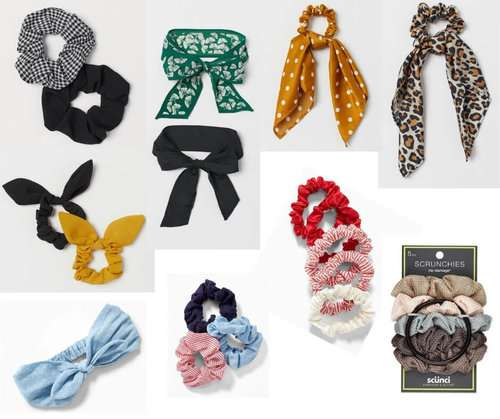 Fashion Forecast for Spring & Summer 2019 includes scrunchies!  It's easy to include this trend in your closet for a chic, casual or dressy look. #style #trends #wardrobe #2019