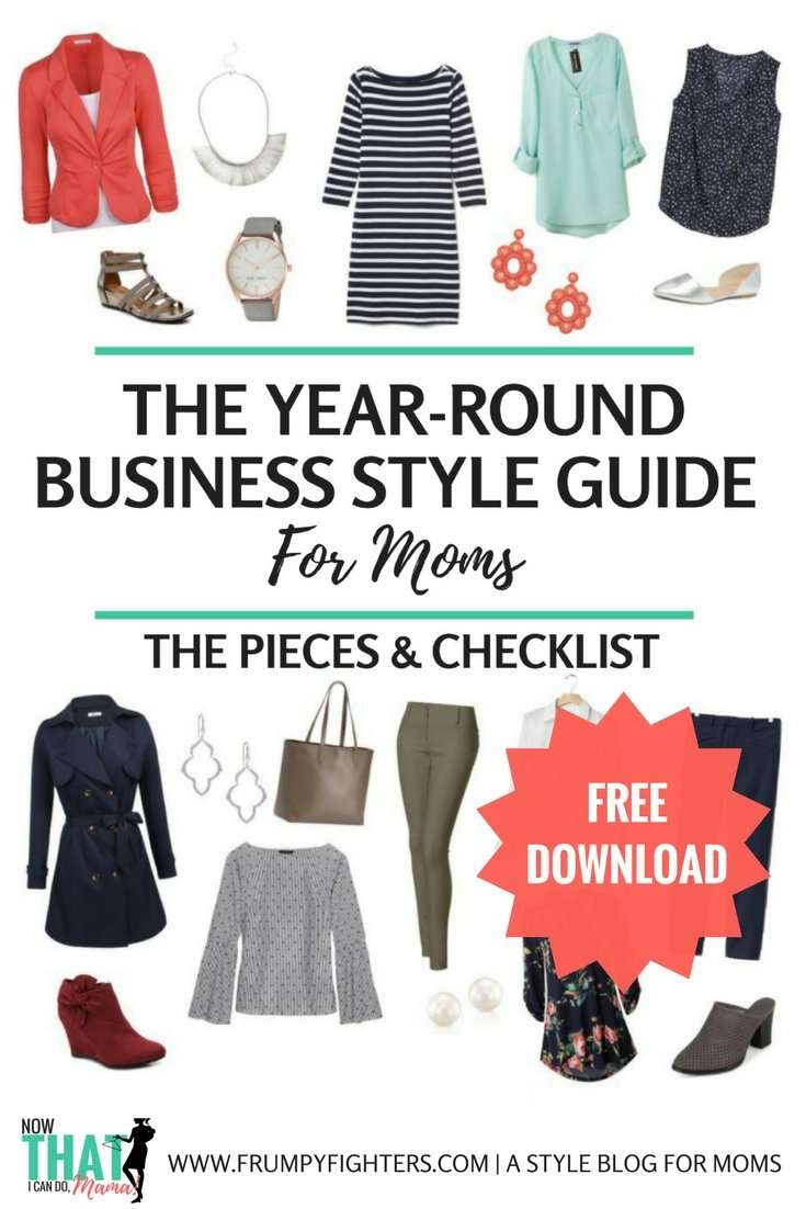 Business Capsule Wardrobe Plan for Moms (Free Style Guide)