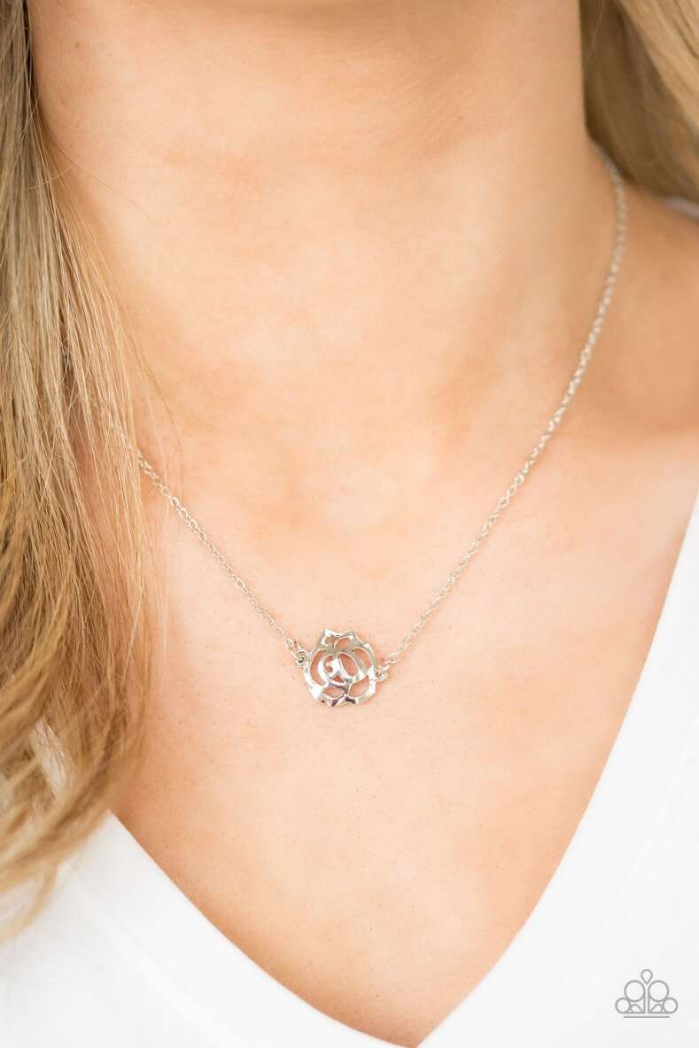 Necklace shown: Paparazzi - Pleasantly Primrose in Silver