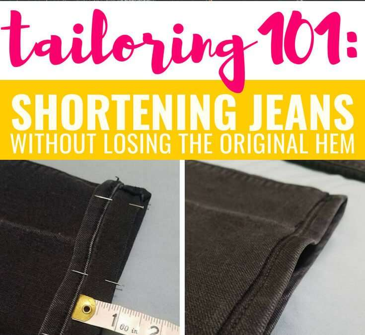 Hemming Jeans & Pants Without Losing the Original Hem (Easy Tutorial for Beginners!)