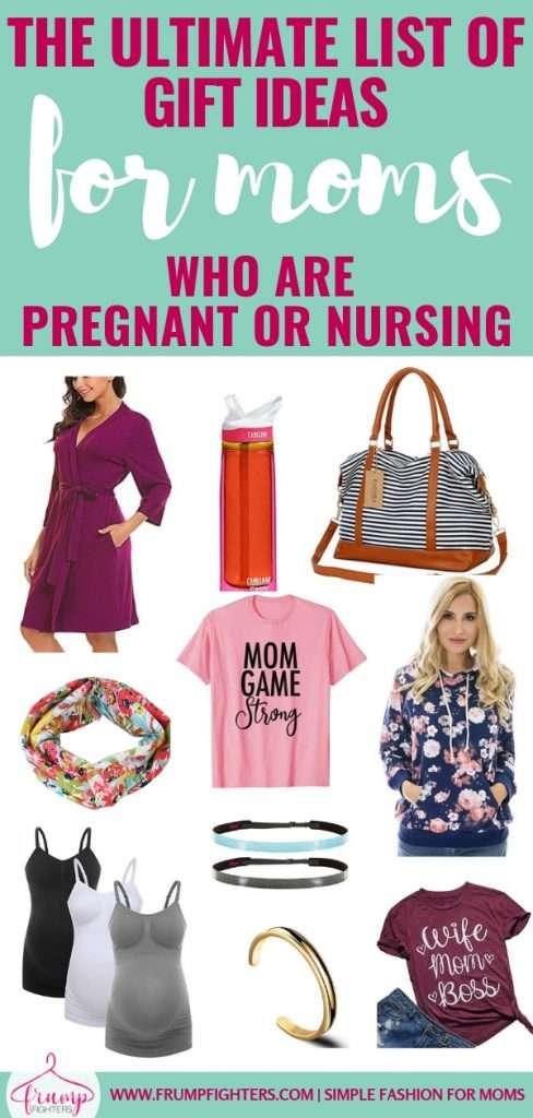 Find the perfect gift for the new mom in your life with this gift guide! Full of fun and trendy must-haves whether they are pregnant or nursing, you are sure to find something amazing for your friend, wife, or sister! #style #mom #giftguide #pregnant #maternity #christmas