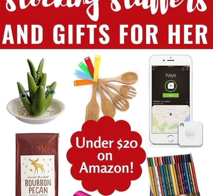 You have so many amazing women in your life, don't you want to spoil them this Christmas?! Here is the ultimate list of chic, fashionable gifts for your mom, sister, bestie, or even your kid's favorite teacher! Whether you are planning ahead or shopping last minute there's sure to be the perfect budget-friendly Christmas gift for you to stuff in her stocking or under the tree! #gifts #stockings #mom #ideas #list #amazon #wishlist