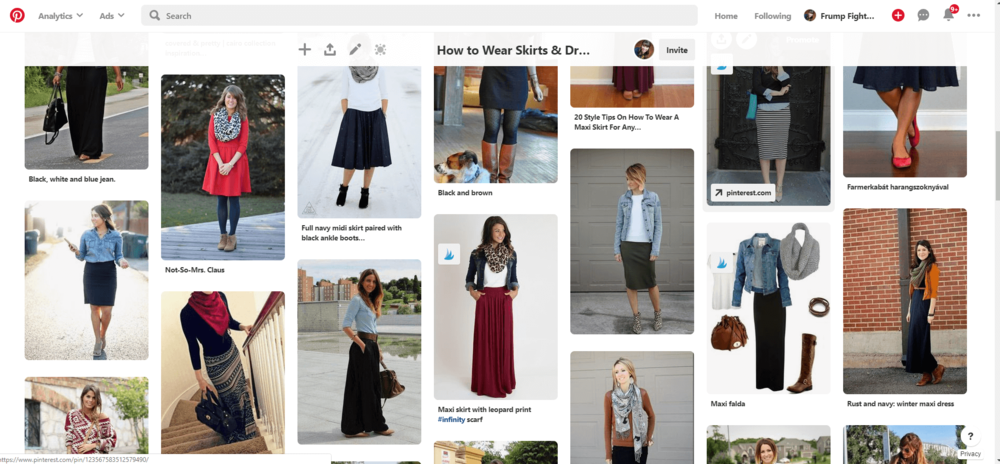 Click for my pinterest board on styling skirts and dresses in cold weather