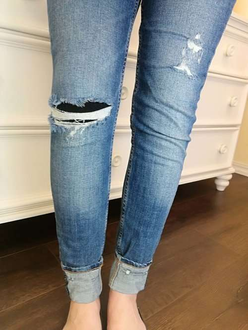 Trendy tip: You can still wear your ripped jeans on cold days, just layer underneath with Fleece-lined leggings!