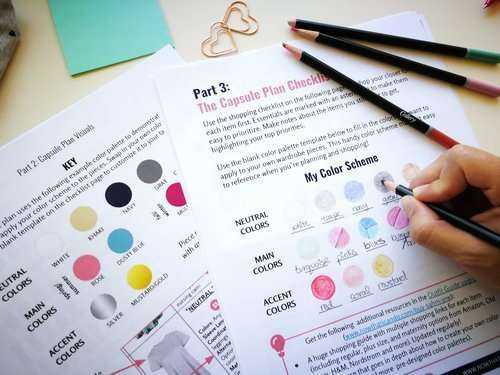 A BENEFIT OF KNOWING YOUR BEST COLORS? YOU CAN MORE EASILY PLAN A CUSTOM WARDROBE COLOR PALETTE THAT WILL BRING OUT THE BEST BASED ON YOUR SKIN UNDERTONE, EYES AND HAIR. DOWNLOAD THE SAHM CAPSULE PLAN PRINTABLE SHOWN ABOVE RIGHT HERE!