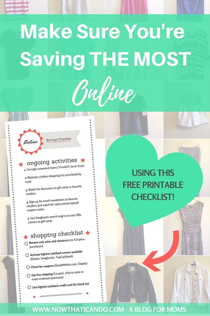 Styling on a Budget: How to Save Money on Clothes Shopping Online (+ Printable Checklist)