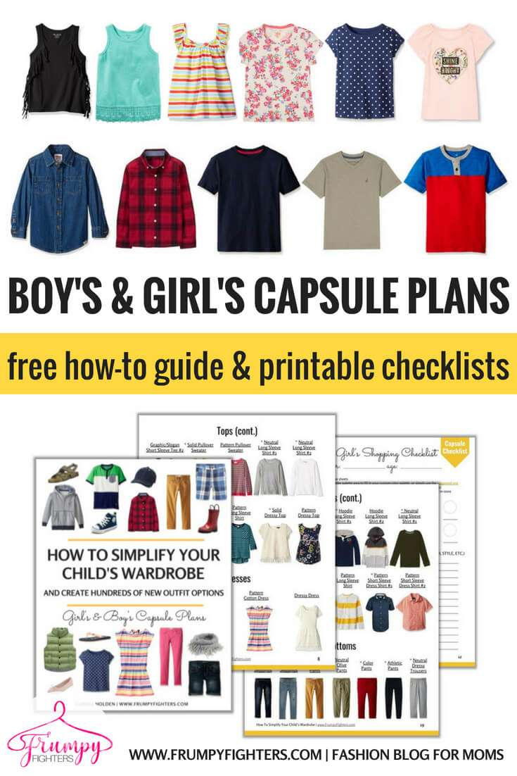 Kid's Capsule Wardrobe Plans & Checklists + Step-by-Step on How to Simplify Your Child's Wardrobe