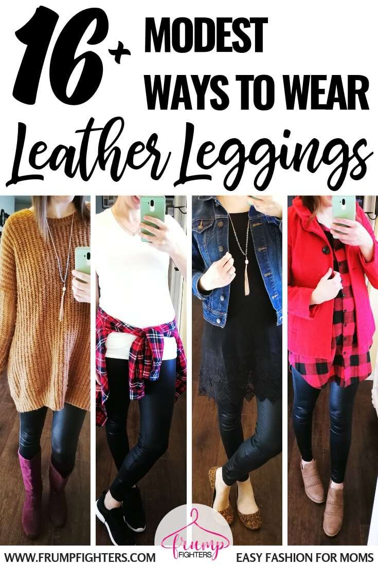 836fa7b04 What to Wear with Leather Leggings in 2019: 14 Casual & Classy Outfit Tips  - Frump Fighters | Easy Fashion for Moms