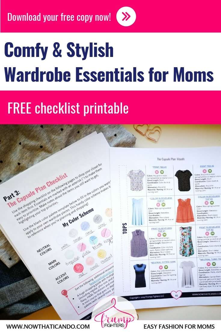 Free Capsule Wardrobe Plan for Moms: Wardrobe Essentials Checklist Printable (Pinterest)