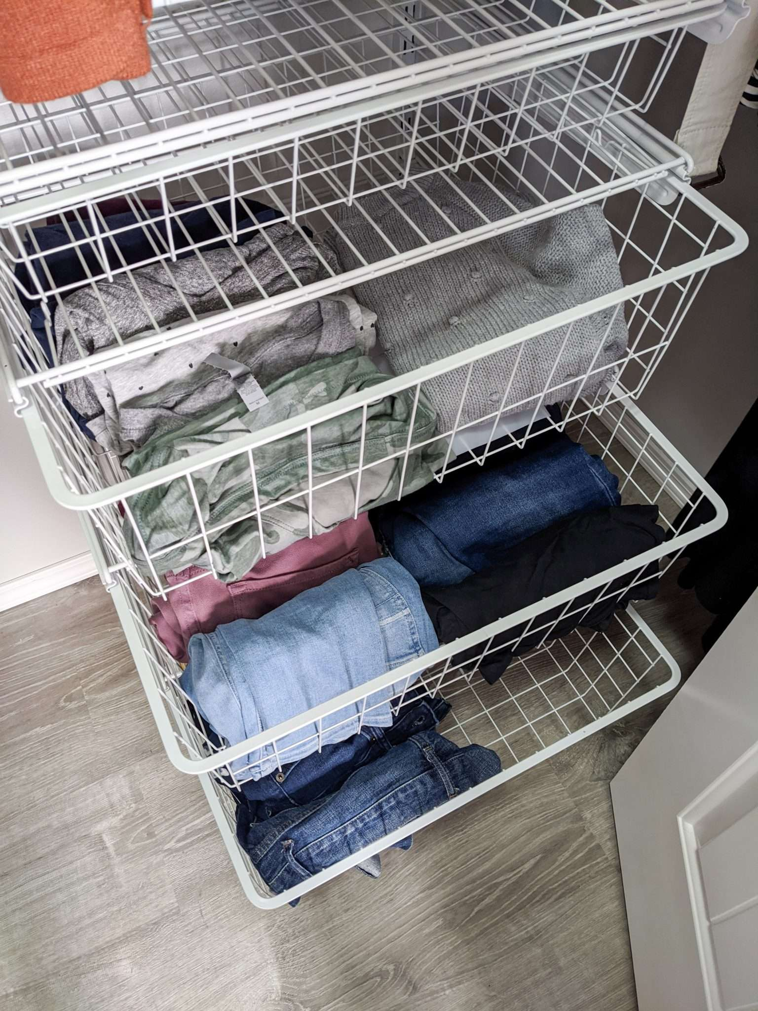 How to organize your closet - the best way to organize your tees, pants, shorts, sweaters so they don't get damaged by hangers
