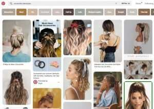 How to Wear a Comeback Trend by searching Pinterest for scrunchie hairstyles