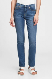 3 Gap Mid Rise Classic Straight Best Affordable Jeans for Women