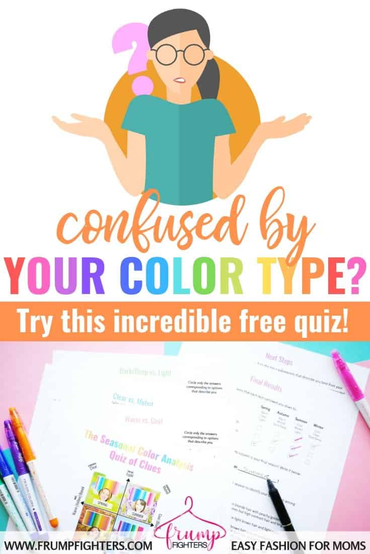 This wonderful mama blogger created a simple and easy FREE quiz that helped me narrow down my own season using some quick color analysis questions. Now I know exactly what colors suit me and how to choose a color palette for my wardrobe! No more confusion, I'm so glad I found this incredible blog post and free printable! #free #printable #colorseason #wardrobe #quiz #howto #capsule
