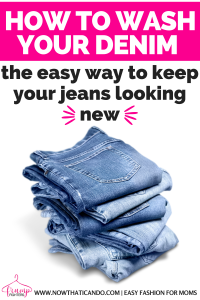 Make your jeans last even longer with these quick tips on washing and caring for your jeans. These are just simple suggestions that won't take you any extra time to keep your jeans looking newer longer! #jeans #fashion #tips #hacks #wardrobe