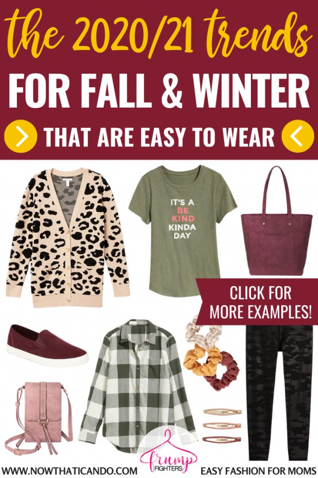 This mama blogger has the ultimate list of fall trends you can wear this year that are mom friendly and easy to add to your wardrobe! She's narrowed it down to the trends that will look good and not be out of style tomorrow. I love this blog! #fall #winter #fashion #trends #2020 #wardrobe