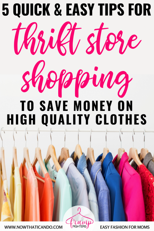 This mama gave me 5 tips that has made thrift store shopping so easy! I can now quickly find clothes that are high quality and the right color and fit for my body when shopping second hand. #fashion #clothes #style #tips #shopping