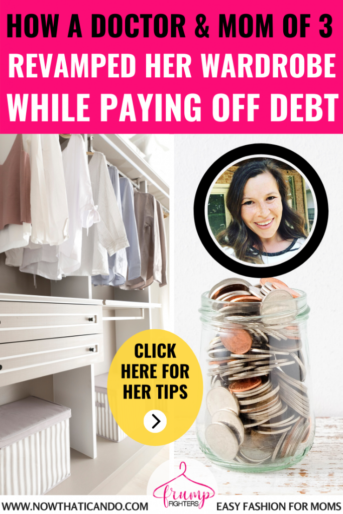 Do you feel overwhelmed by the thought of purging your wardrobe? Fellow mama Dr. Shannon Cairns shares how she purged her closet and saved money to pay off debt. #savingmoney #tips #capsulewardrobe #outfits #budgeting