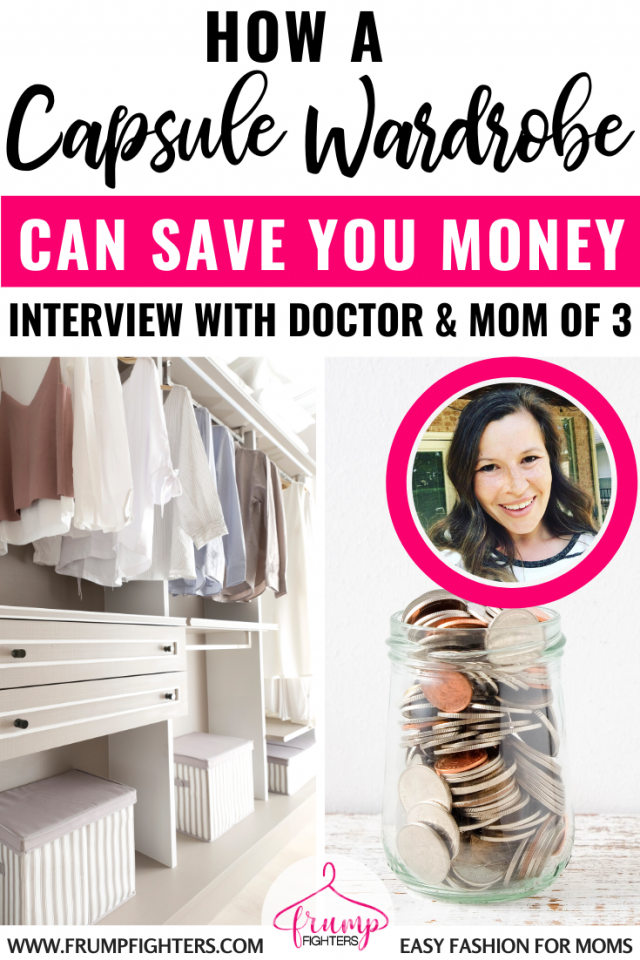 It's not hard to save a lot of money by following a simple capsule wardrobe. A capsule won't limit you, but instead will make pulling outfits together even easier! I love how Shannon, doctor and mama, shares how she made it work for her. #capsule #wardrobe #mom #tips #tricks #savingmoney